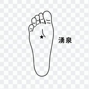 Foot acupoint-spring_black and white