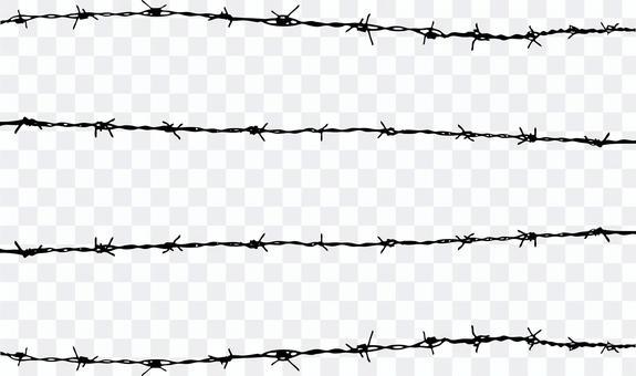 4根鐵絲網