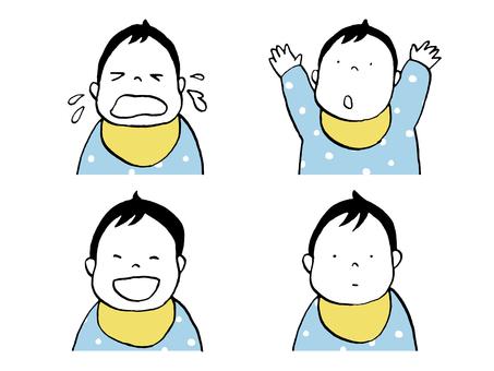 嬰兒的各種面部表情