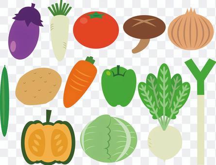 簡單的蔬菜集