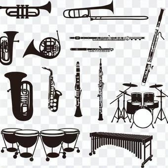 Musical instrument silhouette