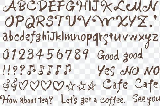 Alphabet hand drawing