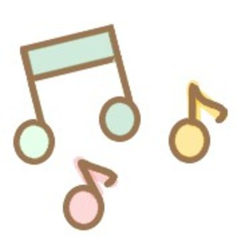 Music musical notes colorful cute sounds