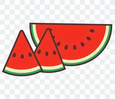 西瓜 ワンポイントイラスト
