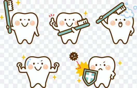 牙齒的性格