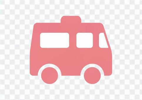 救護車_圖標_粉紅色