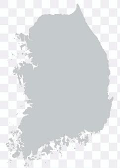 韓國地圖灰色