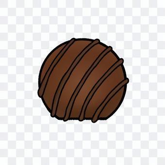 條紋球巧克力(輪廓)
