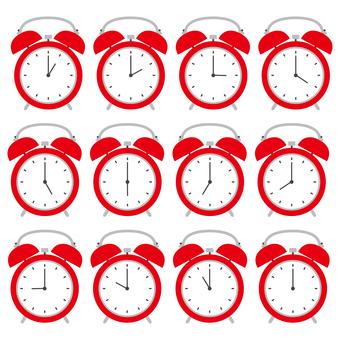 Alarm clock hourly set