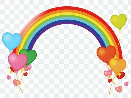Heart and rainbow