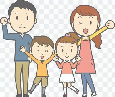 膽量與父母和整個孩子的身體合影
