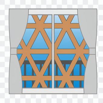 防災(貼窗戶)
