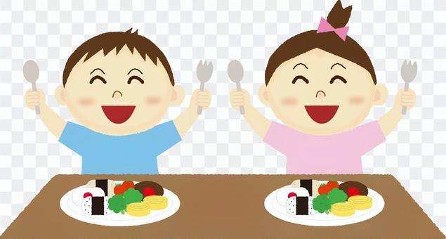 吃米飯的孩子