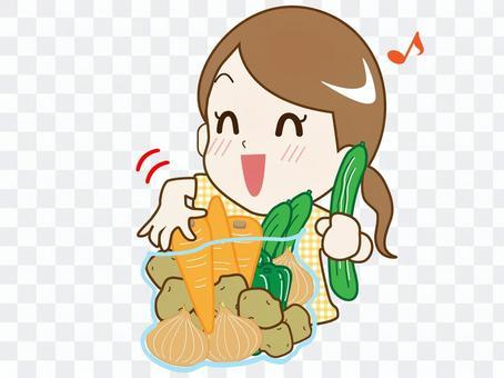 野菜詰め放題➀(喜ぶ主婦)