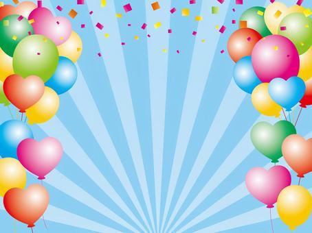 氣球和五彩紙屑的背景材料