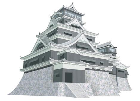 Kumamoto Castle Illustration