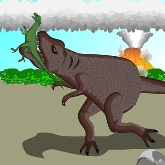 Dinosaur Tyrannosaurus Weak meat and strong food