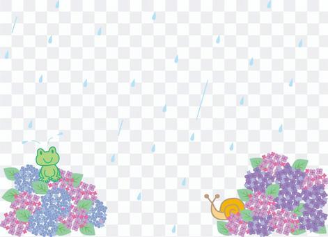 繡球與蝸牛和青蛙