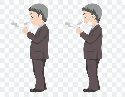穿西裝的男人_香煙(無主線)