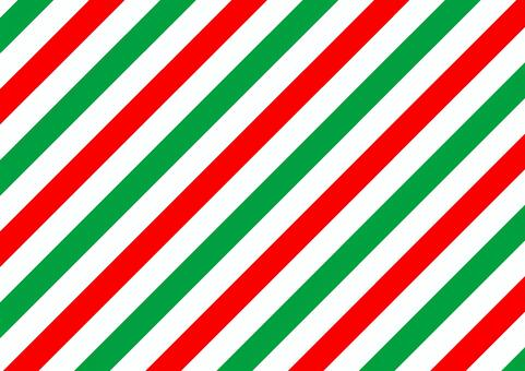 太め斜めストライプ(クリスマスver.)