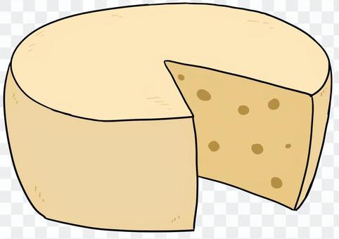 ホールチーズカット後