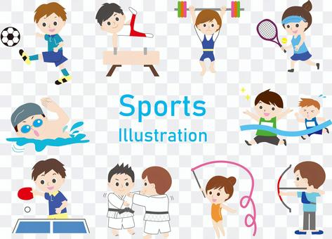 Sports cut illustration