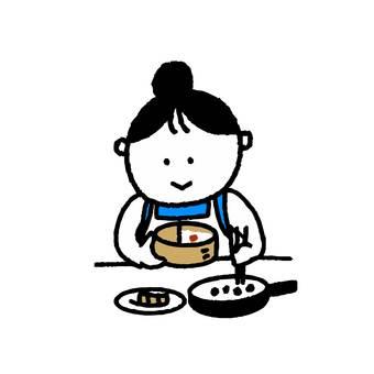 做午飯的女人