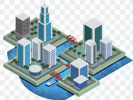 Seaside city buildings 2