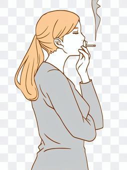女人吸煙(簡單)