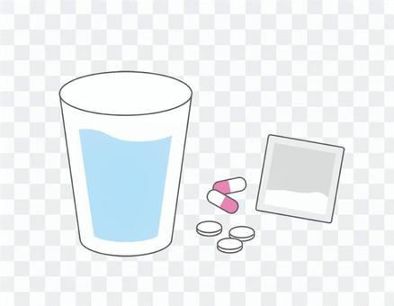 藥物:粉末:膠囊:補充劑:水