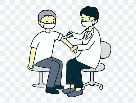 接種疫苗_老人