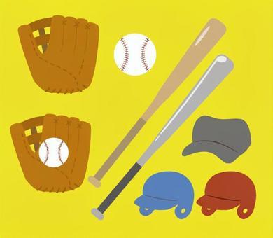 野球道具セット(フチなし)
