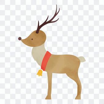 クリスマスのトナカイのイラスト素材