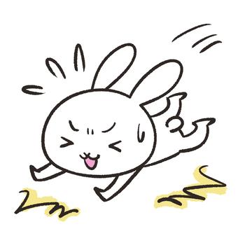 Falling rabbit