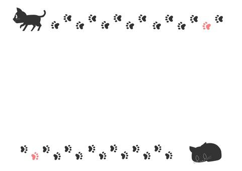 Cat frame paws