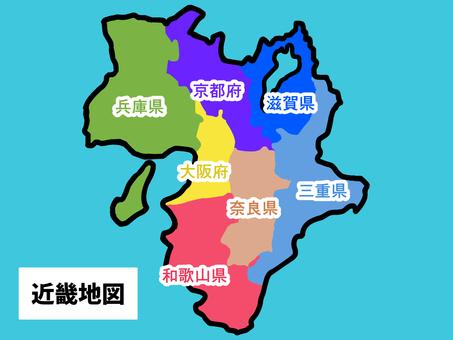 鬆散的近畿地圖(縣區劃)