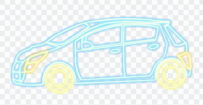 車霓虹燈標誌樣式