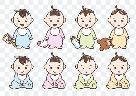 兒童插畫嬰兒01
