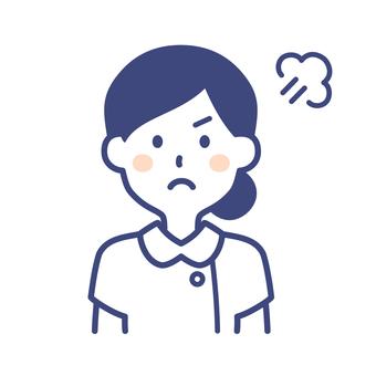 護士女人憤怒的姿勢