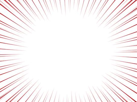 白背景 集中線 赤