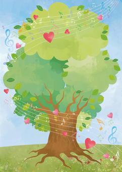 大樹與音符的和諧