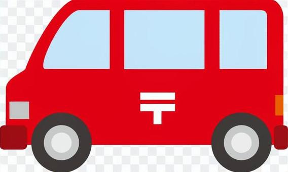 一辆邮政汽车