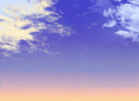 傍晚的天空(早晨的天空)1