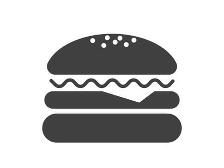 漢堡包的剪影