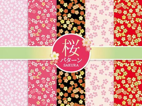 Spring cherry blossom florette pattern / pattern material collection