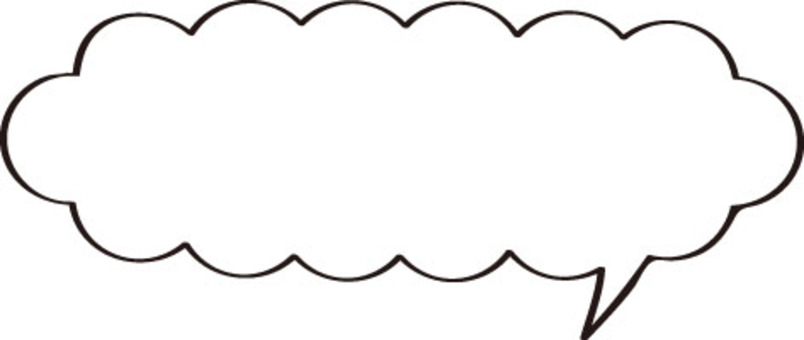 Speech bubbles (Horizontal length is also Momoko · White)
