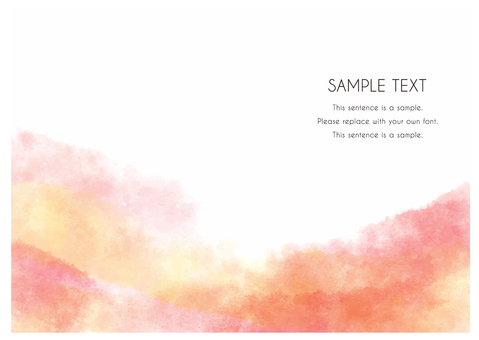 Watercolor-style hand-painted material that can be used as a background_27