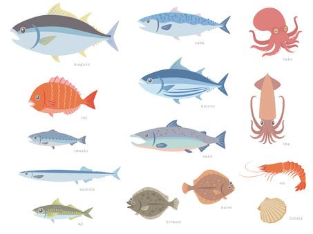各種美味的魚