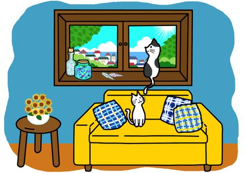 Summer windowsill