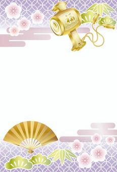 日式新年賀卡模板